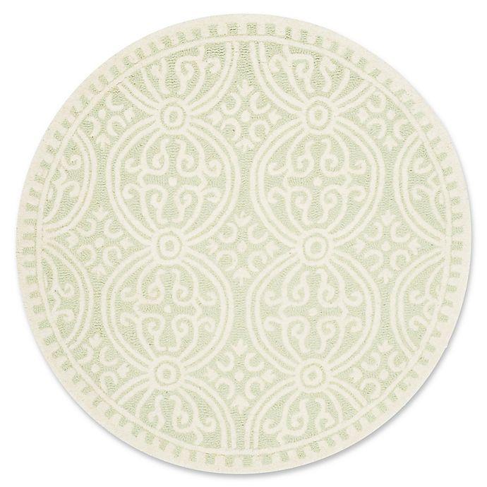 Alternate image 1 for Safavieh Cambridge 8-Foot x 8-Foot Gena Wool Rug in Light Green/Ivory