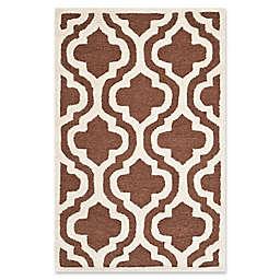Safavieh Cambridge 2-Foot 6-Inch x 4-Foot Becca Wool Rug in Dark Brown/Ivory