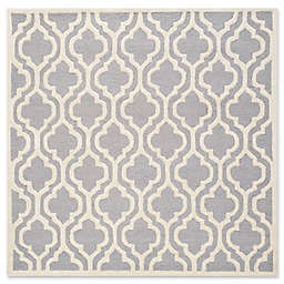 Safavieh Cambridge 4-Foot x 4-Foot Becca Wool Rug in Silver/Ivory