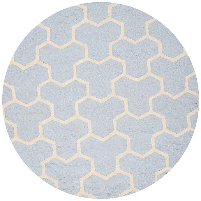 Alternate image 1 for Safavieh Cambridge 6-Foot x 6-Foot Lia Wool Rug in Light Blue/Ivory