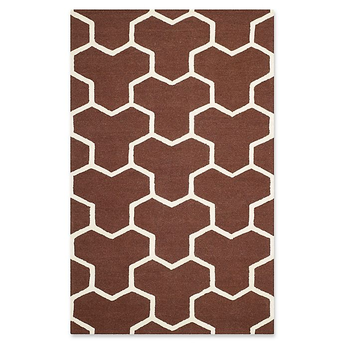 Alternate image 1 for Safavieh Cambridge 6-Foot x 9-Foot Lia Wool Rug in Dark Brown/Ivory