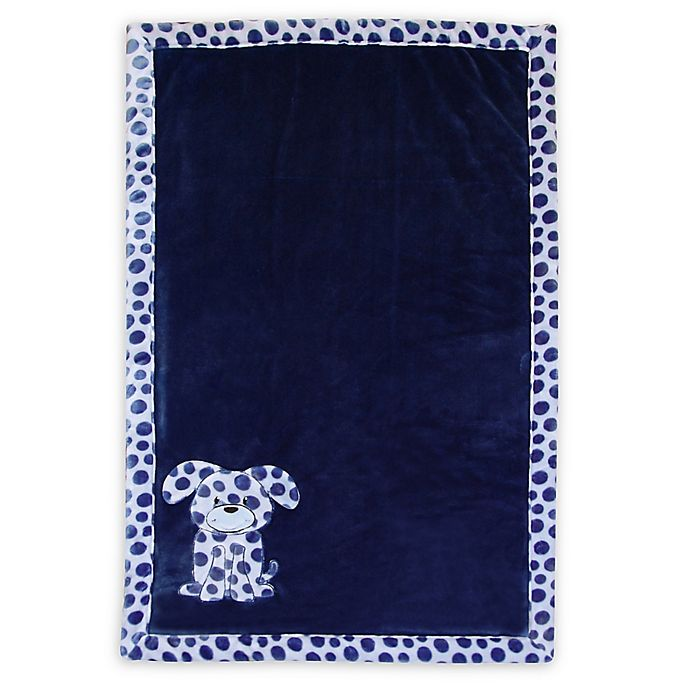 Baby S First By Nemcor Plush Dog Blanket In Blue Buybuy Baby