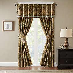 Hampton Hill Canovia Springs Jacquard Rod Pocket Window Curtain Panel and Valance