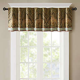Hampton Hill Canovia Springs Jacquard Pieced Rod Pocket Window Curtain Valance in Brown