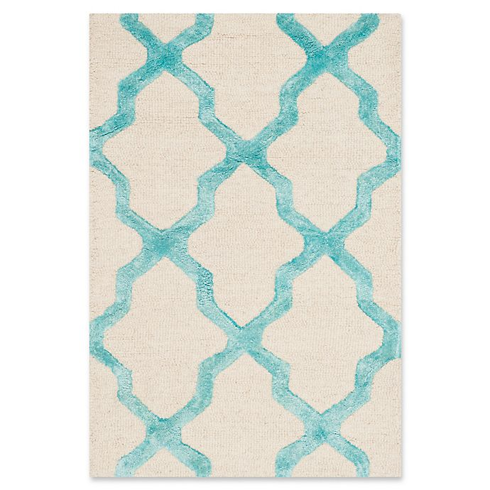 Alternate image 1 for Safavieh Cambridge 2-Foot x 3-Foot Sammy Wool Rug in Ivory/Turquoise