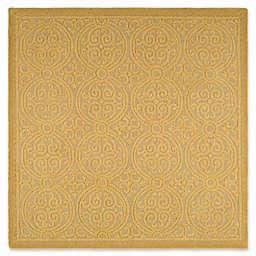 Safavieh Cambridge 8-Foot x 8-Foot Lindsey Wool Rug in Light Gold/Dark Gold