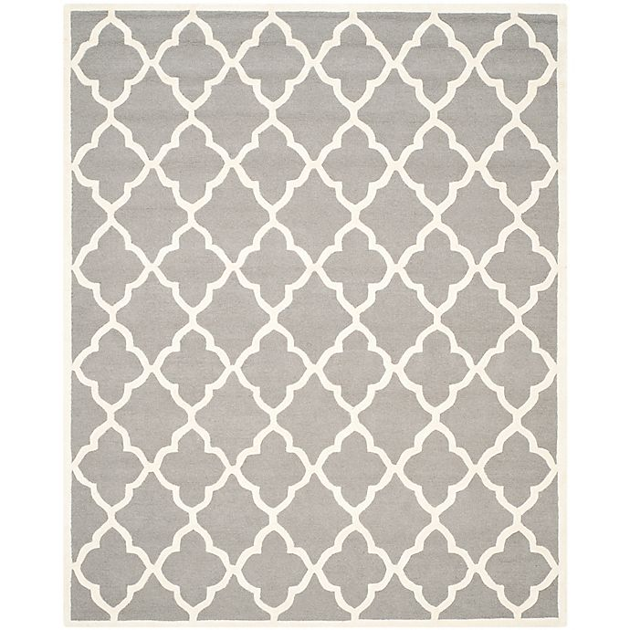 Alternate image 1 for Safavieh Cambridge 8' x 10' Erica Wool Area Rug in Dark Grey/Ivory