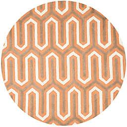 Safavieh Cambridge 6-Foot x 6-Foot Sophie Wool Rug in Orange/Grey