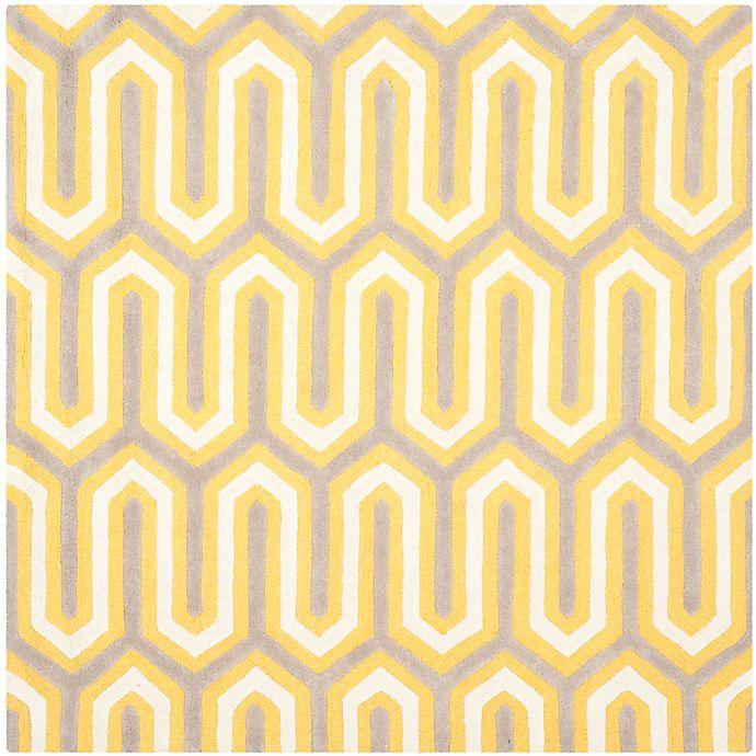 Alternate image 1 for Safavieh Cambridge 6-Foot x 6-Foot Sophie Wool Rug in Gold/Grey