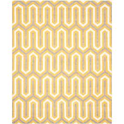 Safavieh Cambridge 8-Foot x 10-Foot Sophie Wool Rug in Gold/Grey