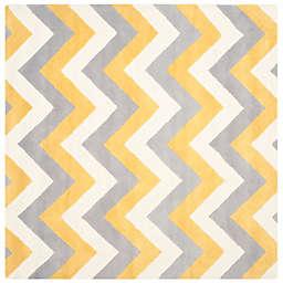 Safavieh Cambridge 8-Foot x 8-Foot Dylan Wool Rug in Grey/Gold