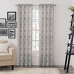 Pairs to Go™ Brockwell 2-Pack 63-Inch Rod Pocket Window Curtain Panels in Charcoal