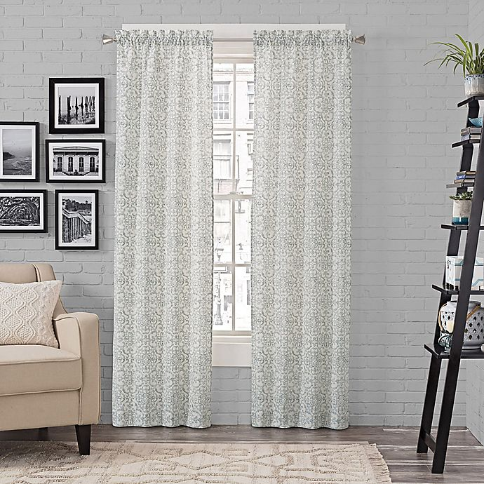 Alternate image 1 for Pairs to Go™ Brockwell 84-Inch Rod Pocket Window Curtain Panel Pair in Spa