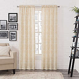 Pairs to Go™ Brockwell 2-Pack 95-Inch Rod Pocket Window Curtain Panels in White