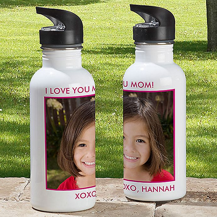 Alternate image 1 for 1-Photo Picture Perfect 20 oz. Water Bottle