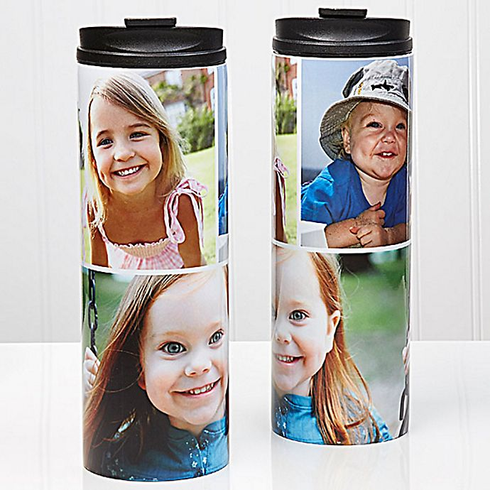 Alternate image 1 for 3-Photo Collage 16 oz. Travel Tumbler