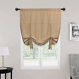 SolarShield® Kate Rod Pocket Room Darkening Tie-Up Window Shade
