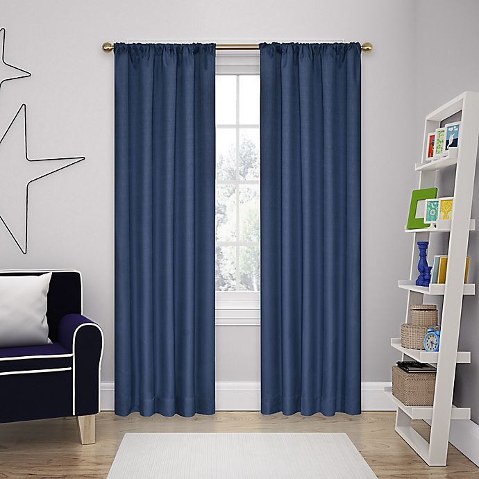 Alternate image 1 for Eclipse Kate 54-Inch Rod Pocket Room Darkening Window Curtain Panel (Single)
