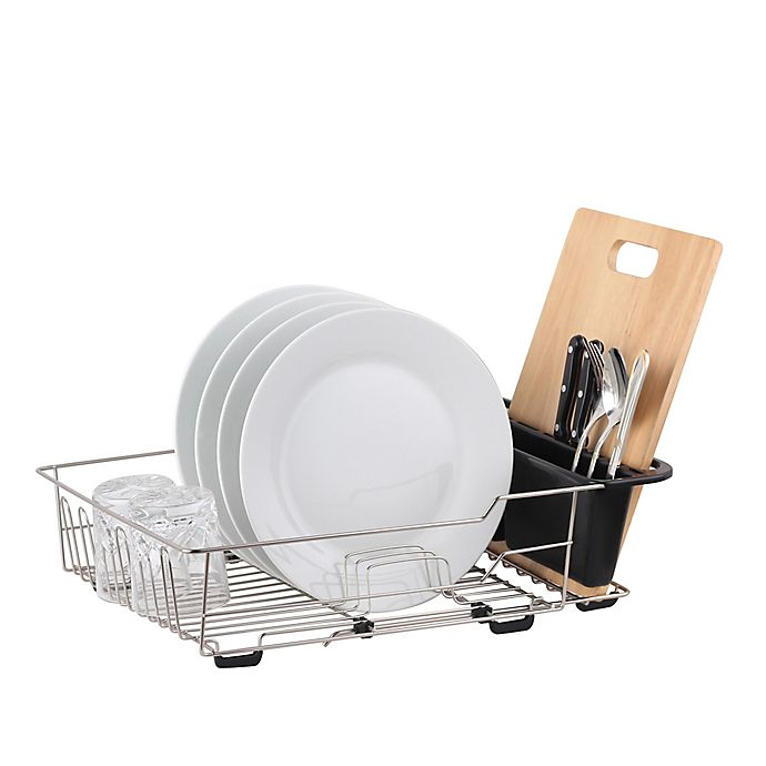 Alternate image 1 for Large Dish Rack in Satin Nickel