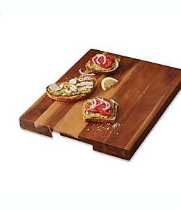 Artisanal Kitchen Supply® Tabla para picar de madera de acacia, 45.72 x 35.56 cm