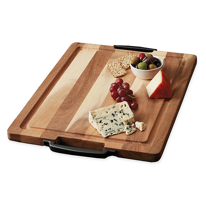 Alternate image 1 for Artisanal Kitchen Supply® 20-Inch x 15-Inch Cutting Board with Handles