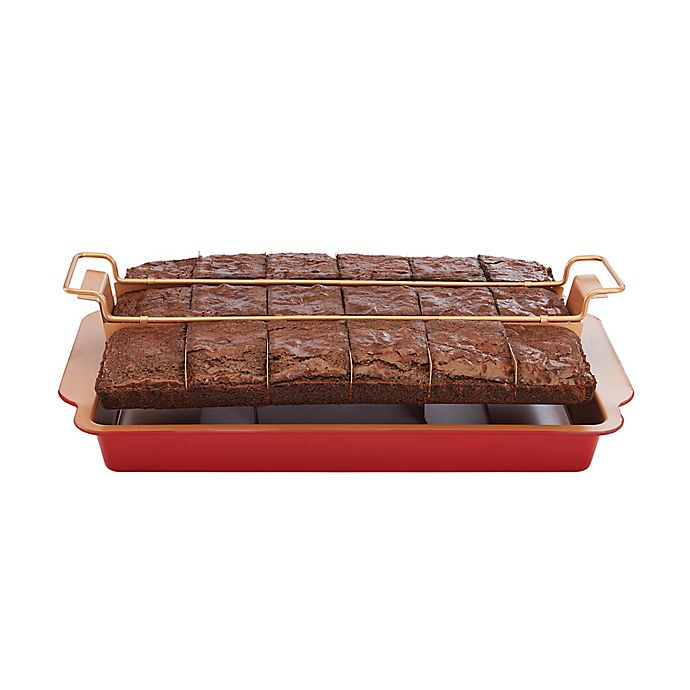 Alternate image 1 for Red Copper Brownie Bonanza Pan