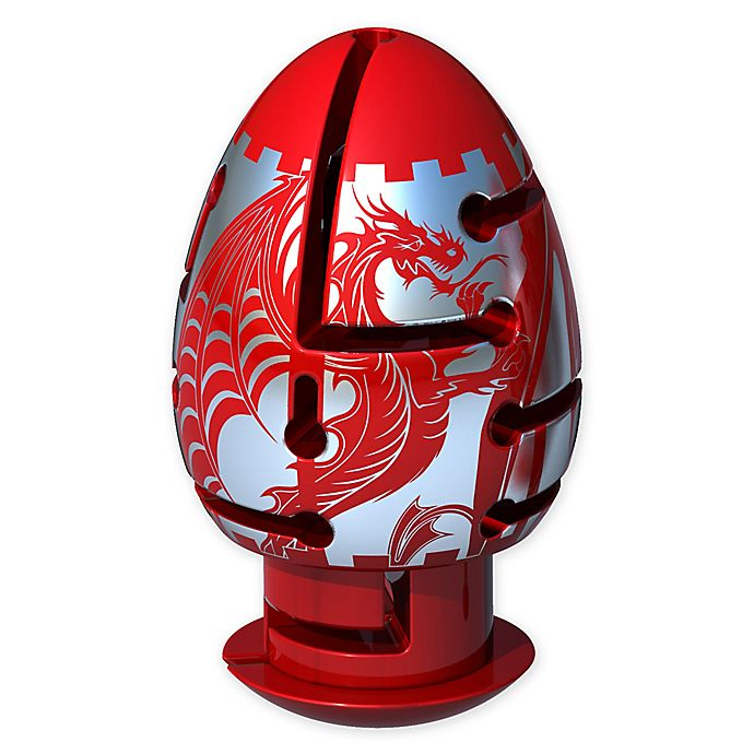 Alternate image 1 for BePuzzled® Smart Egg 2-Layer Dragon Labyrinth Puzzle in Red