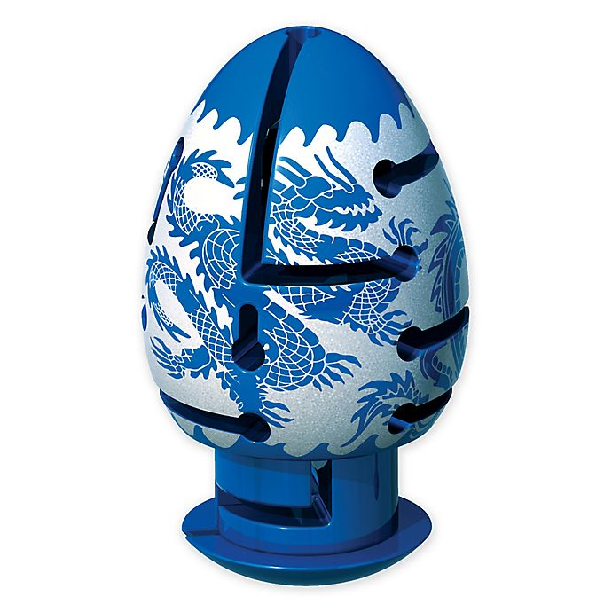 Alternate image 1 for BePuzzled® Smart Egg 2-Layer Dragon Labyrinth Puzzle in Blue