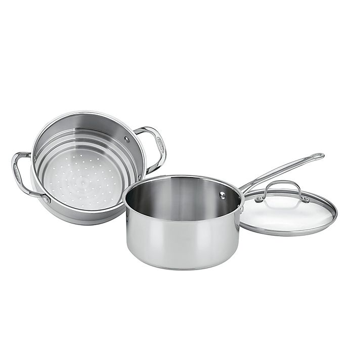 Alternate image 1 for Cuisinart® Chef's Classic™ Stainless Steel 3-Piece 3 qt. Steamer Set