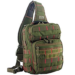 Rover Sling Pack in Olive Drab/Red