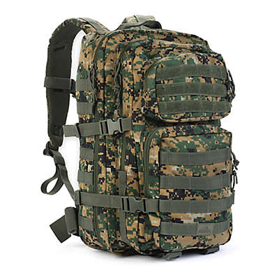 Red Rock Outdoor Gear Large Assault Backpack in Woodland Digital Green