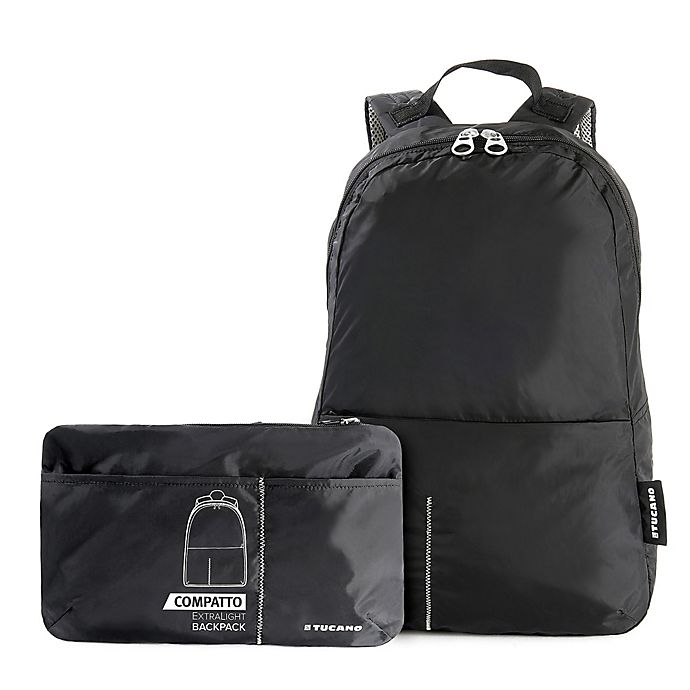 Alternate image 1 for Tucano Compatto Foldable Backpack in Black