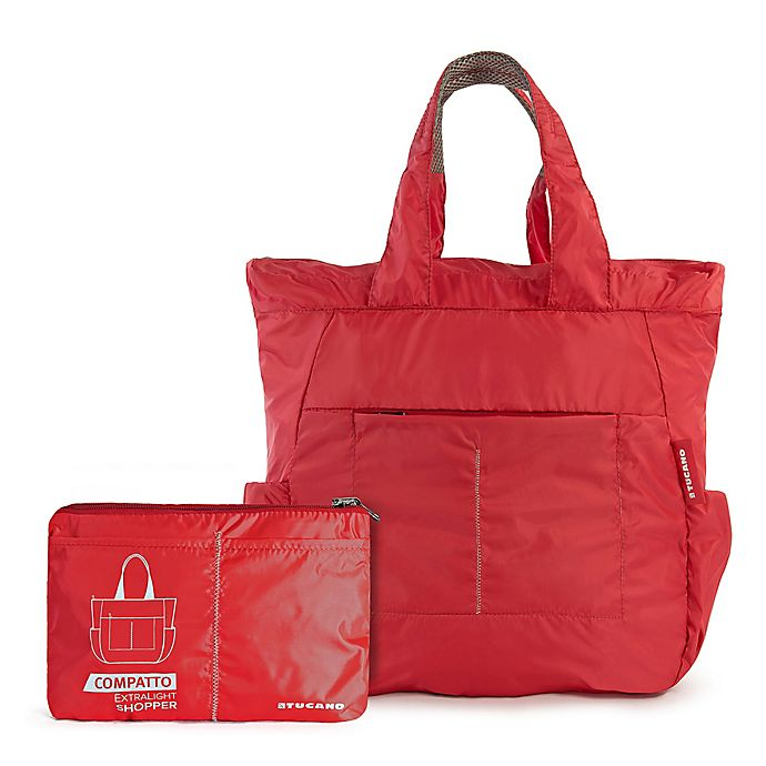 Alternate image 1 for Tucano Compatto Extra-Light 17-Inch Shopper Tote in Red