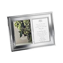 Vera Wang Wedgwood® Grosgrain Double 5-Inch x 7-Inch Metal Frame