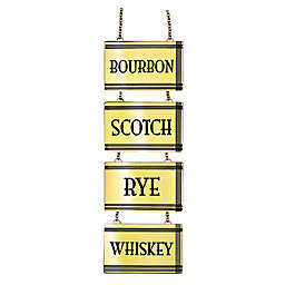 Top Shelf Liquor Tags in Gold (Set of 4)