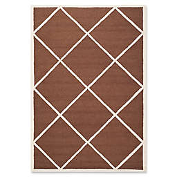 Safavieh Cambridge Zara 4' x 6' Handcrafted Area Rug in Dark Brown/Ivory