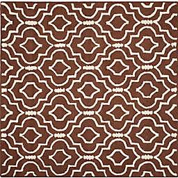 Safavieh Cambridge 6-Foot x 6-Foot Taylor Wool Rug in Dark Brown/Ivory