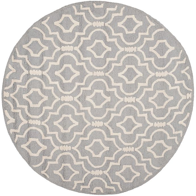 Alternate image 1 for Safavieh Cambridge 6-Foot x 6-Foot Taylor Wool Rug in Silver/Ivory