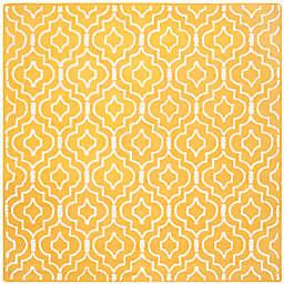 Safavieh Cambridge 8-Foot x 8-Foot Taylor Wool Rug in Gold/Ivory
