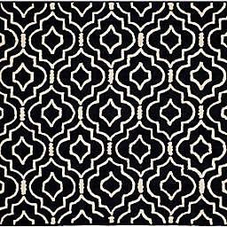 Safavieh Cambridge 8-Foot x 8-Foot Taylor Wool Rug in Black/Ivory