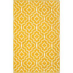 Safavieh Cambridge 8-Foot x 10-Foot Taylor Wool Rug in Gold/Ivory
