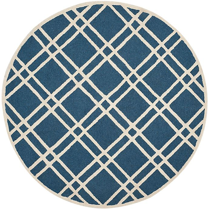 Alternate image 1 for Safavieh Cambridge 6-Foot x 6-Foot Trina Wool Rug in Navy Blue/Ivory