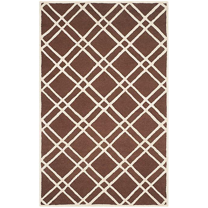 Alternate image 1 for Safavieh Cambridge 6-Foot x 9-Foot Trina Wool Rug in Dark Brown/Ivory