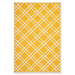 Safavieh Cambridge 6-Foot x 9-Foot Trina Wool Rug in Gold/Ivory