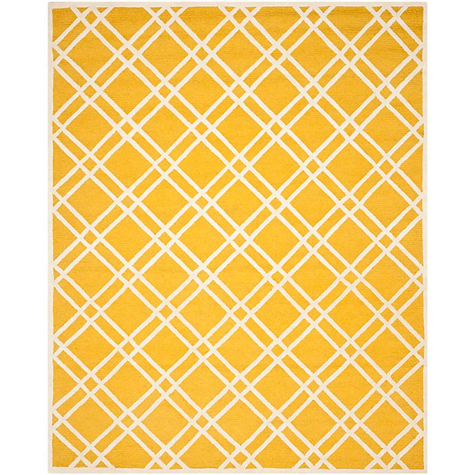 Alternate image 1 for Safavieh Cambridge 8-Foot x 10-Foot Trina Wool Rug in Gold/Ivory