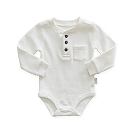Planet Cotton® Thermal Henley Bodysuit in Ivory