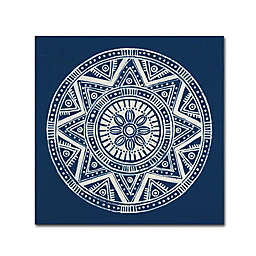 Seville I Canvas Wall Art in Dark Blue