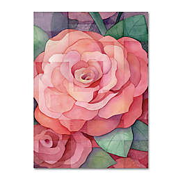 Rose Canvas Wall Art in Pink