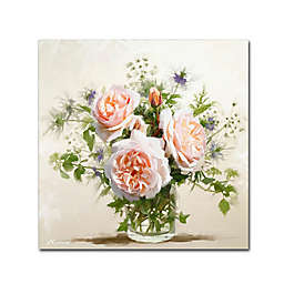 Old Roses 24-Inch Square Canvas Wall Art