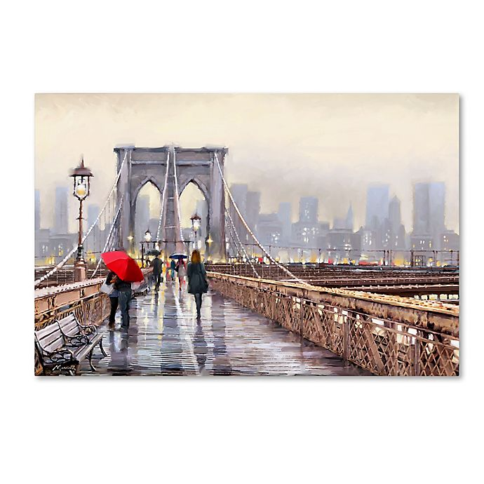 Alternate image 1 for The Macneil Studio Brooklyn Bridge Canvas Wall Art